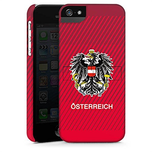 Apple iPhone X Silikon Hülle Case Schutzhülle Österreich EM Trikot Fußball Europameisterschaft Premium Case StandUp