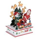 #9: MagiDeal Toy Music Box w/ Mini Train Ferris Wheel Santa Claus Wind Up Musical Toy Xmas Christmas Party Showcase