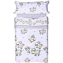 Juego de sábanas 152 Azul (cama 90x190/200)