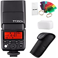 GODOX TT350S 2.4G 1/8000s HSS TTL GN36 Wireless Speedlite Flash Light with 20pc Color Filter Diffuser for Sony A7 II A7R II A7S II A6300 A6000 camera