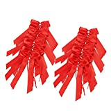 100 Pièces De Décoration De Mariage Nœuds pour Satin Voiture Decoration, Chaise, Cadeau, Wedding Crmonie, Bouquet (rouge)