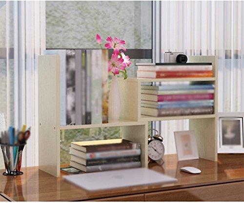 DFHHG® Librería Estantería 37 (L) * 17 (W) * 46.5 (H) Cm Escritorio combinado creativo Verde Blanco Rojo durable ( Color : #3 )