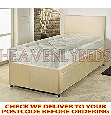 HEAVENLYBEDS @ Single Divan Bed With Mattress Storage 3ft base for children or adults produced by HeavenlyBeds - quick delivery from UK.
