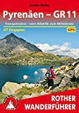 Pyrenäen - GR 11: Transpirinaica - vom Atlantik zum Mittelmeer. 47 Etappen. Mit GPS-Tracks (Rother Wanderführer) - Annika Müller