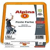 Alpina Feste Farbe 2,5 L. Deckenfarbe, Tropffrei streichen, Wandfarbe Weiss Matt