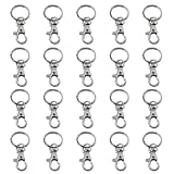 TRIXES 20 X Small Lobster Detachable Swivel Clasps for Key Split Ring Craft Hobby Jewelry