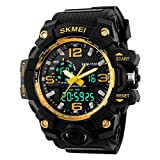 Addic Analogue-Digital Multifunctional Outdoor Sports Dual Time Golden Dial Men's & Boy's Watch