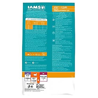 Iams ProActive Health Complete and Balanced Cat Food with Chicken for Sterilised and Overweight Cats, 10 kg 2
