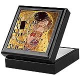 CafePress–Gustav Klimt Art Boîte souvenir–The Kiss–Boîte souvenir, finition en bois dur Boîte à bijoux, EN velours doublé Memento Box