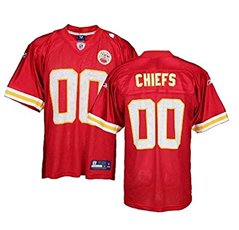 Reebok Kansas City Chiefs NFL Mens Team Replica Jersey, Red