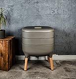 Design-Komposter, Komposter, Wurmkomposter (Hellanthrazit)