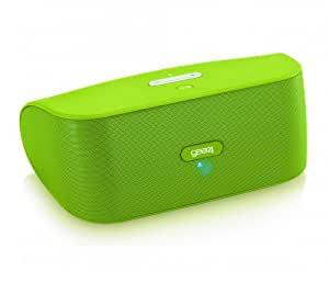 Gear4 StreetParty Wireless Universal Bluetooth Portable Speaker Compatible with Smartphones, Tablets and MP3 Devices Including iPhone 4/4S/5/5S/5C/6/6 Plus, iPad 2/3/4, iPad Air 1/2, iPad Mini 1/2/3, iPod Nano 7th Generation, iPod Touch 5th Generation, Samsung Galaxy S2/S3/S4/S5, Galaxy A3/A5, Galaxy Alpha, Galaxy Note 2/3/4, Galaxy Tab 2/3/4, Amazon Fire Phone, Xperia Z1/Z2/Z3, HTC One/One M8/One M9 and Google Nexus 4/5/6/7/9/10 - Green