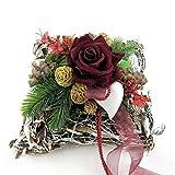 Small-Preis Grabgesteck - Grabschmuck - Grabaufleger Kissen mit roten Rosen 912