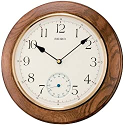 Seiko Wall Clock (30 cm x 30 cm x 4.7 cm, Brown, QXA432BN)