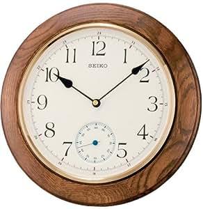 Seiko qxa432b orologio da parete unisex orologi for Orologio legno amazon