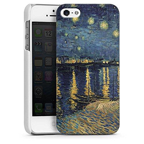 Apple iPhone 5 Housse Étui Silicone Coque Protection Vincent van Gogh Tableau Art CasDur blanc