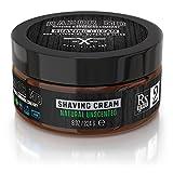 Shaving Cream - Rasier Creme | Natural Unscented - parfümfrei - nicht schäumend - nicht seifenbasiert | Paraben Free, All Natural, Made In USA