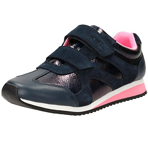 Clarks Girl's Blue Sports Shoes - 2 kids UK/India (17.5 EU)