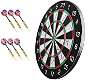 Professional Darts Set - Home Game Training Adult Dartboard 18 Inches Double-Sided Flocking Can Be Used 6/12 / 18 Dart