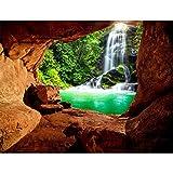 Fototapeten Wasserfall 352 x 250 cm Vlies Wand Tapete Wohnzimmer Schlafzimmer...