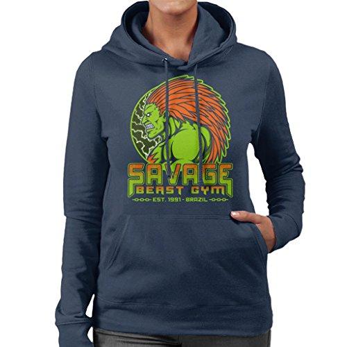 Fighter Savage Beast Gym Blanka Women's Hooded Sweatshirt ()