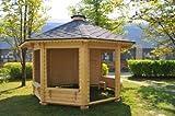 JUNIT Garten- Pavillon GAZEBO 9,8m² ohne Grill Gartenpavillon Partyhaus