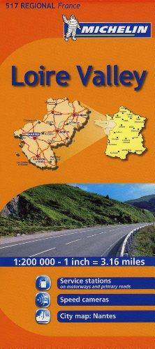 Mapa Regional Loire Valley (Carte regionali) por Michelin