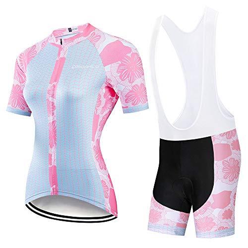 YDJGY Radfahren Kleidung Frauen 2019 Radfahren Jersey Set Triathlon Anzug Maillot Mtb Fahrrad Kit TräGerhose Gel Pad Fahrrad Kleidung Kleid