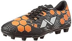 Nivia Raptor-I 37711 Football Shoes, UK 11 (Black/Orange)