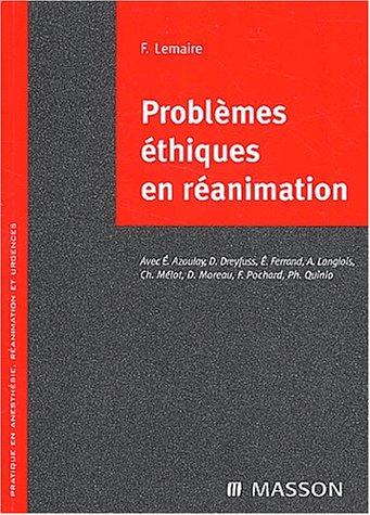 Problèmes éthiques en réanimation