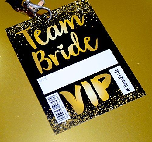 TEAM BRIDE VIP Pass Lanyard - Team Braut VIP Pass Lanyard ~ als kleines Geschenk für den Junggesellinnenabschied
