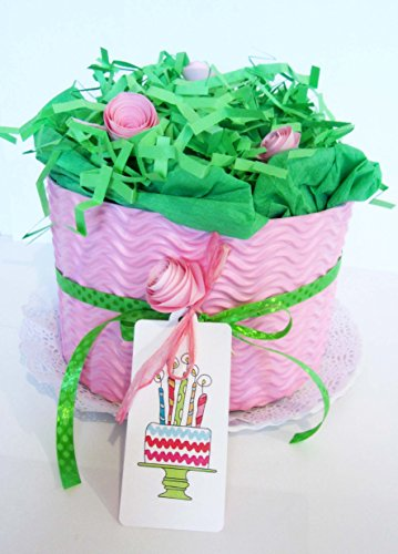 Torta di Pannolini DODOT | Modello PETALO DI ROSA | Personalizzabile con il Nome del Bebé | Diaper Cake | Baby Shower Gift Idea | Tono Rosa, Per Femminucce