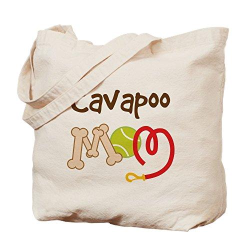CafePress–Cavapoo Dog Mom–Leinwand Natur Tasche, Reinigungstuch Einkaufstasche Tote M khaki (Tote-maßnahmen)