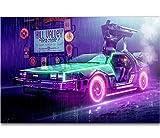 Retour vers Le Futur 1 2 3 Film étonnant Vintage Hot New Art Affiche Top Soie lumière Toile Home Decor Mur Photo Imprimer 42 * 60 Cm sans Cadre