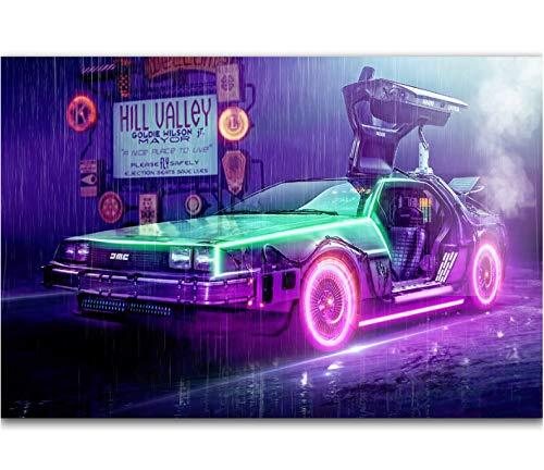 Zurück in die Zukunft 1 2 3 Erstaunlicher Film Film Vintage Heiße Neue Kunst Poster Top Silk Light Leinwand Wohnkultur Wandbild Druck 42 * 60 cm Ohne Rahmen