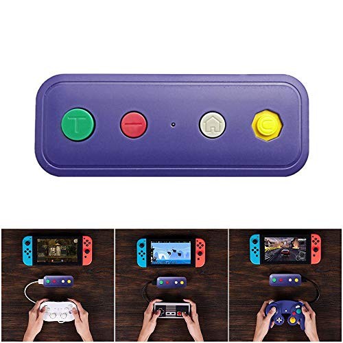 Goglor Switch Bluetooth-Adapter, kabelloser Konverter für Switch & PC Windows funktioniert mit Gamecube NGC Controller, NES/SNES/Wii Classic Controller & Anderen Spiele-Controllern