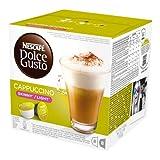 Nescafé Dolce Gusto Cappuccino light, weniger Kalorien, Kaffee, Kaffeekapsel, 16 Kapseln (8 Portionen)
