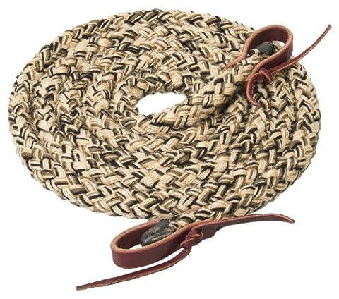 Weaver Leather Silvertip Hollow Braid Roper Rein, Tan/Black/Brown, 5/8-Inch x 8-Feet