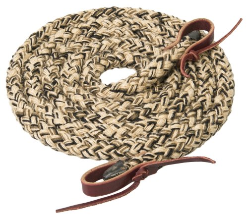 Weaver cuero rienda de brocha de Hollow Braid Trail - 35-5300-W29, Beige/ negro/ marrón