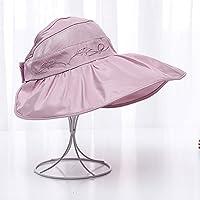 LBY Sombrero del Sol Sombrero Anti-Ultravioleta del Sombrero De La Playa De La Protección Solar De La Playa del Sombrero del Sol Plegable Vacío Superior Plegable Sombreros de Sol