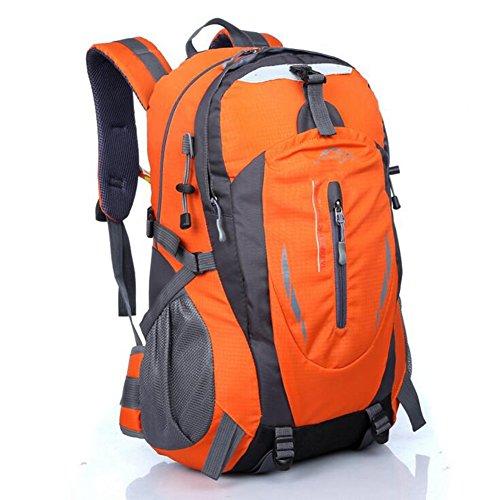 Dohot zaino da escursionismo, leggero e impermeabile zaino per trekking, campeggio, corsa, ciclismo trekking sport all' aperto 40l, donna Ragazzi unisex Uomo, Blue Orange