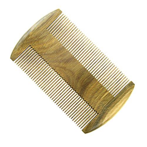 Bao Core Peigne Double-Face Avec Dens Dents Peigne En Vert Sandal Peigne à Main Portable Antistatique Comb Pour Unisexe Massage de Cuir Chevelu Cheveux Maison Salon de coiffure Coiffeur Professionnel