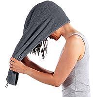 Erwin Müller Frottier Turban - Handtuch für die Haare - Haarturban - Haartuch - anthrazit - Größe 28x70 cm - 100% Baumwolle