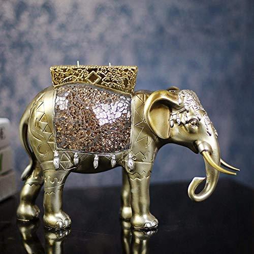 Axiba Cristal Hecho a Mano de Resina Elefante Vela Adorno Set tamaño: 31 * 11 * 22cm
