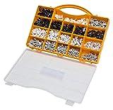 Kabelschellen Set für Rundkabel 1020tlg weiß schwarz grau Nagelschellen...
