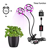 LED Plant Light-Promote Plant Grow With Timing Function,Hydroponics Greenhouse Garden Lamp Plant Growth & Flower Computers Desk Office Task Lighting USB Bedside Lamp by Stwie (timer grow light round style)