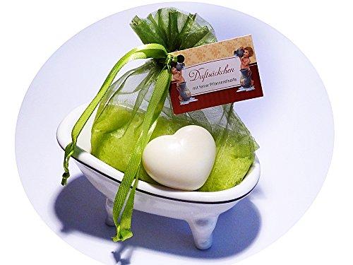 """3 tlg. Geschenkset tolle Seifenschale Badewanne """"Savons"""" mit Inhalt"""