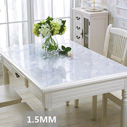 Table Nappe Imperméable PVC Gommage Souple Verre Transparent Table À Manger Mat Cristal Plaque Hôtel Table Tissu En Plastique Table Basse Mat-120 * 160 cm