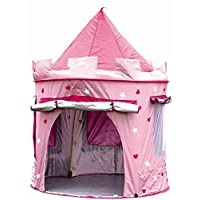MaMaMeMo Childrens Princess Pop Up Castle - Suitable for Indoor & Outdoor Use : Girls Pink Toy Play Tent / Playhouse / Den