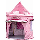 MaMaMeMo Tienda plegable CASTILLO Princesa ( protegida CON AISLANTE para uso interior y exterior) Casita de tela / lona para niños / niñas - Fácil de montar y guardar sistema POP UP